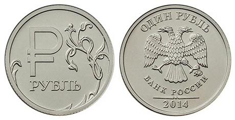 Монеты с символом рубля