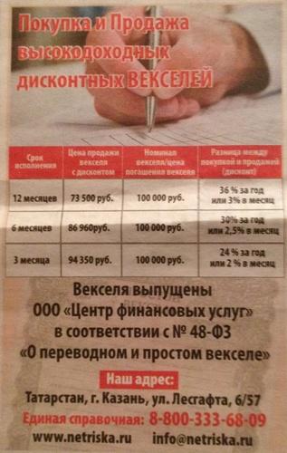 Центр финансовых услуг в Казани